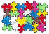 окрашенные головоломки абстрактная концепция — Стоковое фото
