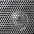Spherical silver speaker grille - Stock Photo