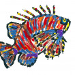 Lionfish Scoprionfish abstract image - Stock Photo