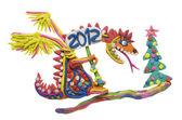 2012 - ano do dragão vermelho — Foto Stock