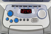 Abstract silver control panel — Stock Photo