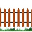 Long fence from bricks — Stock Photo