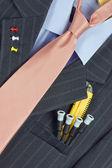 Vêtements d'homme intellectuelle maître — Photo
