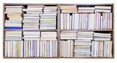 Vecchi libri su uno scaffale — Foto Stock