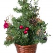 Plastic decorative Christmas tree — Stock Photo #9863435