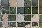 Grüne glasscherben blöcke hintergrund — Stockfoto