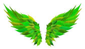 Green wings concept — Stock Photo