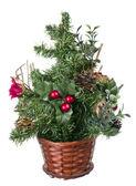 Plastic decorative Christmas tree — Stock Photo