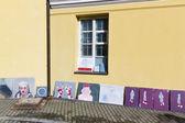 Outdoor street exhibition — Stock Photo