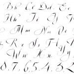 Calligraphy hand-written Alphabet — Stock Photo