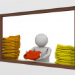 Travel collection - Beach towel station worker — Stock Photo