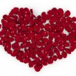 Rose petals heart (love, valentine day series) - Stock Photo