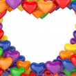 Heart balloons background (love, valentine day series, 3d isolated characters) - Stock Photo