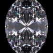 Diamond oval cut  — Stock Photo