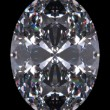 Stock Photo: Diamond oval cut