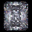 Diamond radiant cut - Stock Photo