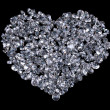 Stock Photo: Heart of diamonds