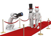Celebrities on red carpet - Lifestyle collection — Stock Photo