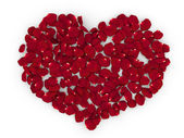 Rose petals heart (love, valentine day series) — Stock Photo