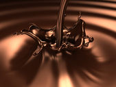 Chocolate splash — Stock Photo