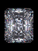 Diamond radiant cut — 图库照片
