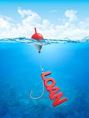 Swallow loan bait — Stock Photo