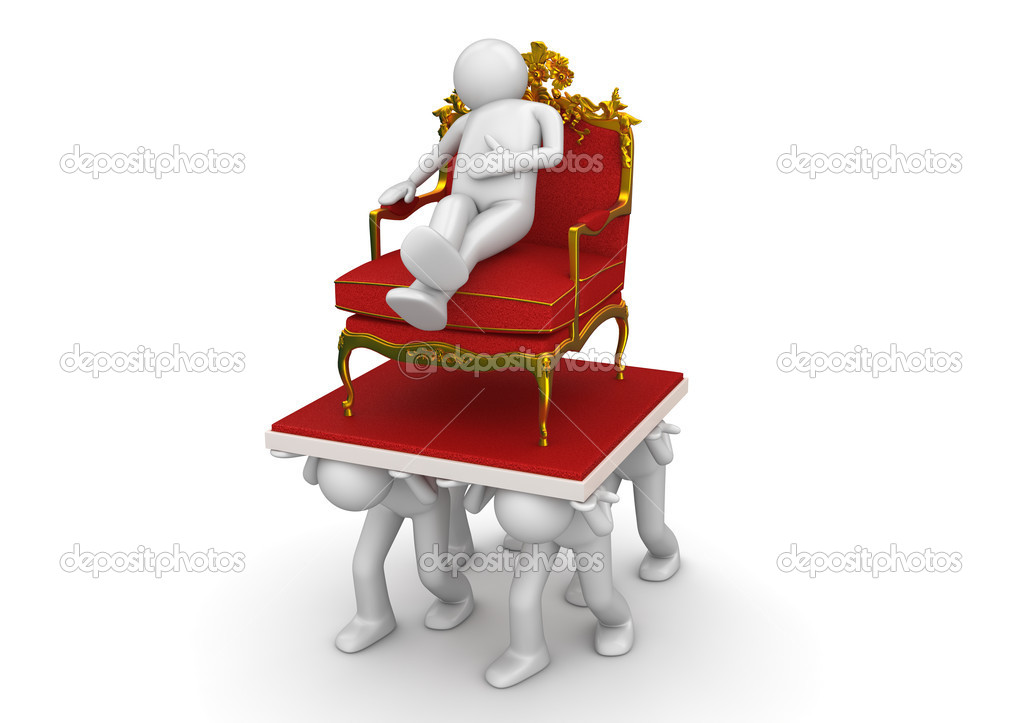 King on throne and slaves - Lifestyle collection — Stock Photo #9597687