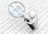 Searching for some binary code — Stock Photo