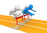 Hurdle race — Stock Photo