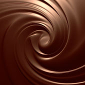Astonishing chocolate swirl. Clean, detailed render. Backgrounds series. — Stock Photo