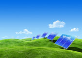 Eco collection - Solar energy — Stock Photo