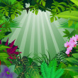 Tropical forest background — Image vectorielle