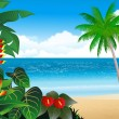 Tropical beach background - Image vectorielle