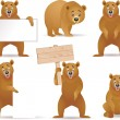 Bear cartoon collection — Stock Vector #8579127