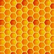 Seamless pattern of honeycomb — ストックベクタ