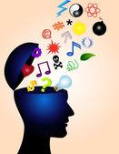 Human mind — Stock Vector