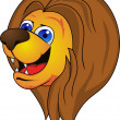 Vector de stock : Lion Head Cartoon