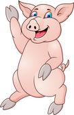 Funny pig cartoon — Stock Vector