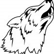 Wolf Tattoo - Image vectorielle