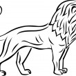 Lion tattoo — Vector de stock