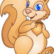 Chipmunk cartoon - Stock Vector