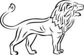 Lion tattoo — Stock Vector