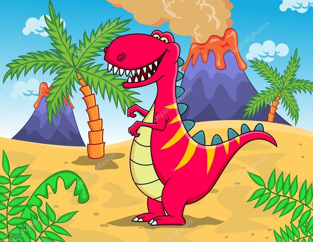 Dibujos animados de dinosaurios — vector stock dagadu