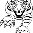 Stock Vector: Tiger Tattoo