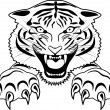 Tiger Tattoo — Stock Vector