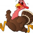 Turkey Running — Vector de stock