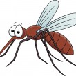 Mosquito Cartoon — Stock Vector