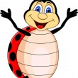 Royalty-Free Stock Vector Image: Funny Lady bug Cartoon