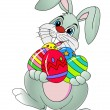 Easter rabbit with Easter egg — Image vectorielle