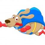 Super Dog Cartoon — Stock Vector